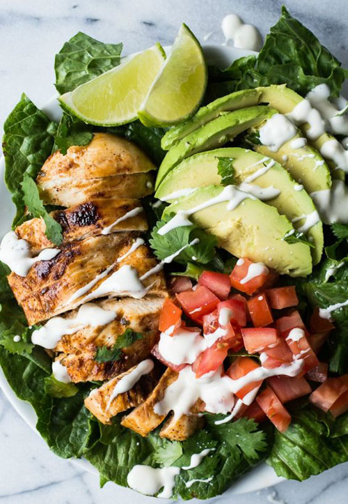 25 Meal Sized Loaded Salads - Chili Lime Chicken Salad