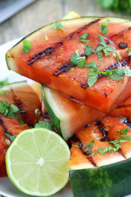 21 Things You Didn't Know You Could Grill - Cilantro Lime Grilled Watermelon