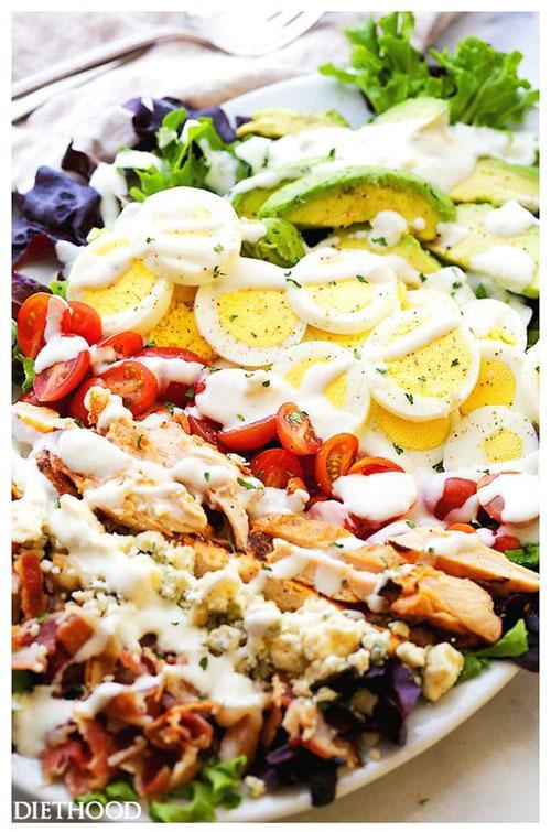 25 Meal Sized Loaded Salads - Cobb Salad
