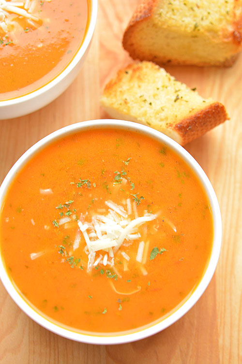 Dsc_ From  Reviews The Best Tomato Basil Soup Recipe