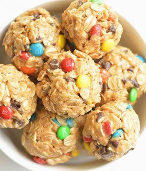 No Bake Monster Cookie Energy Balls