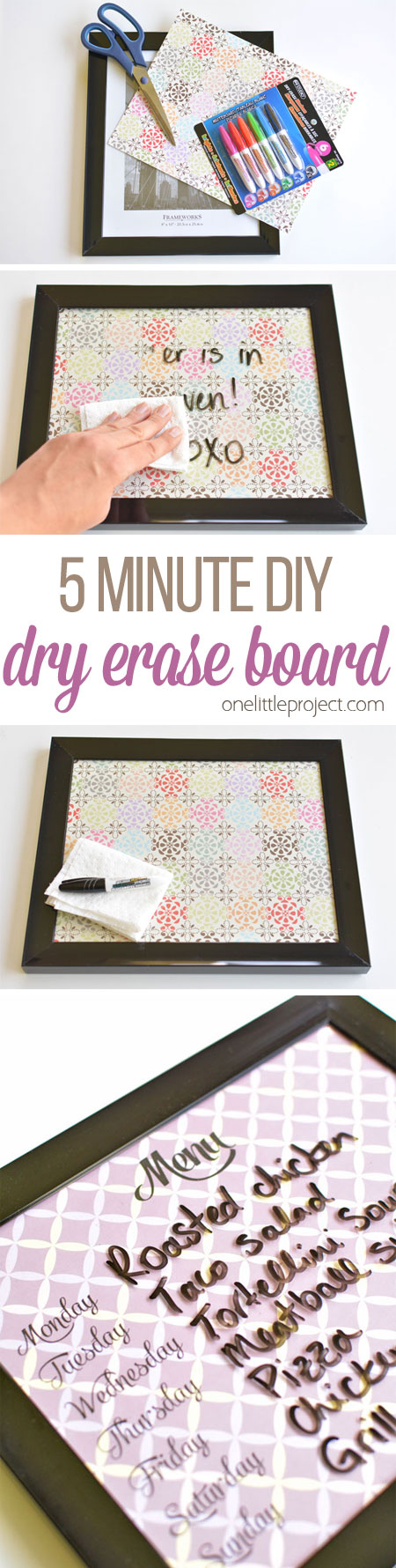5 Minute Dry Erase Board Easy Diy Whiteboards