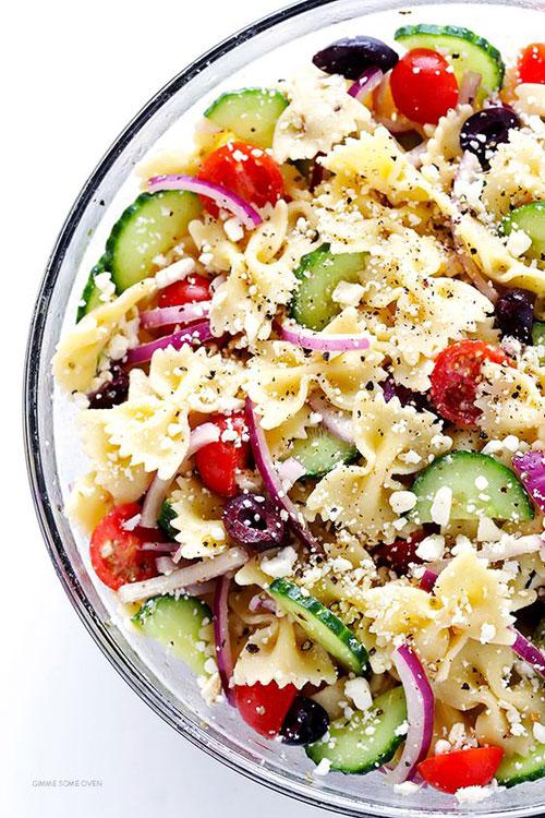 40 Best Pasta Salad Recipes - Easy Mediterranean Pasta Salad