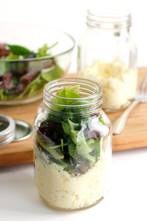 33 Healthy Mason Jar Salads - Egg Salad Mason Jar