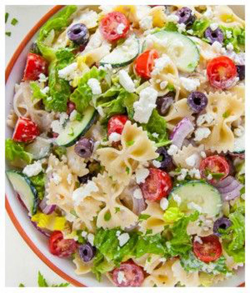 40 Best Pasta Salad Recipes - Greek Pasta Salad