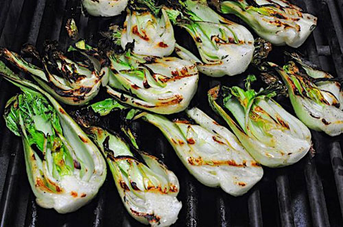21 Things You Didn't Know You Could Grill - Grilled Baby Bok Choy with Lime Dressing