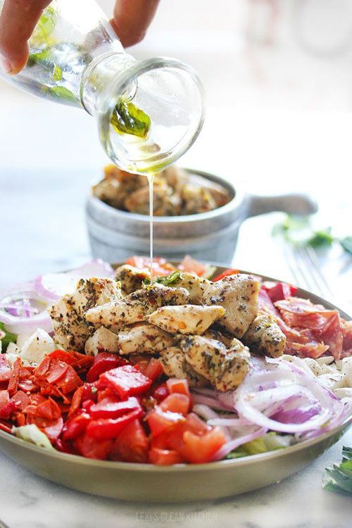 25 Meal Sized Loaded Salads - Grilled Chicken Chopped Antipasto Salad
