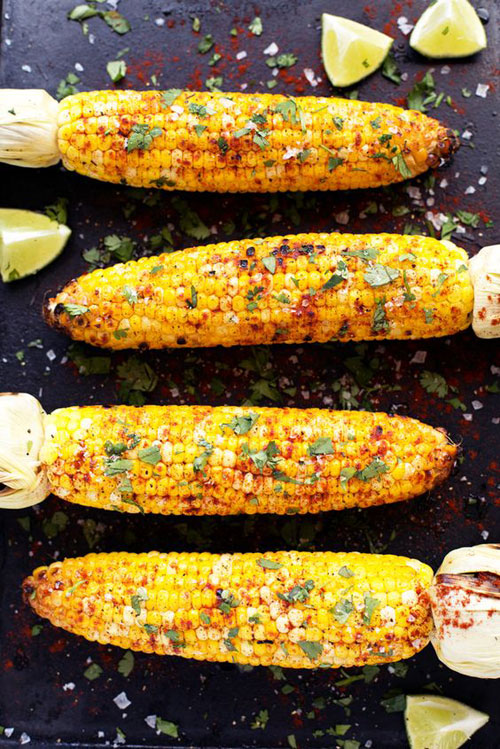 21 Things You Didn't Know You Could Grill - Grilled Cilantro, Lime & Paprika Corn on the Cob