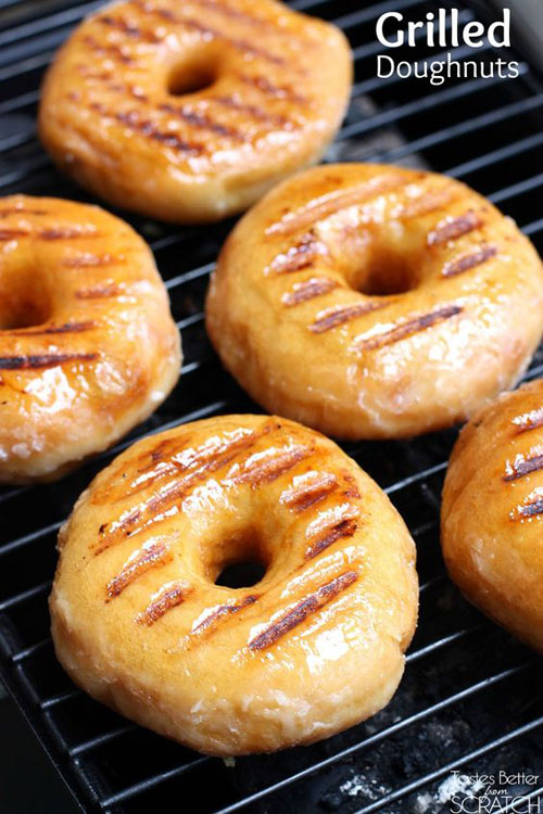 21 Things You Didn't Know You Could Grill - Grilled Doughnuts