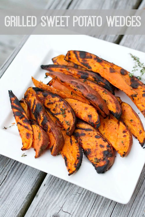 Caramelized Sweet Potato Wedges Recipe — Dishmaps