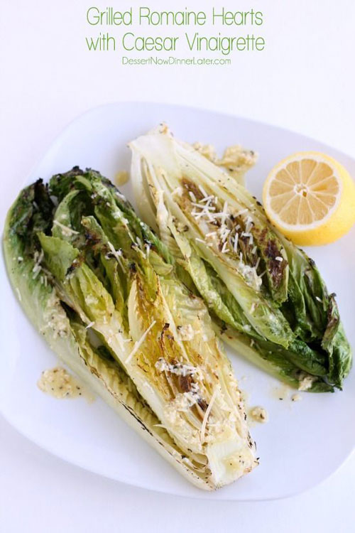 21 Things You Didn't Know You Could Grill - Grilled Romaine Hearts with Caesar Vinaigrette