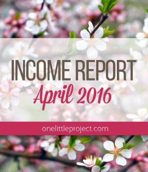 Traffic and Income Report: April 2016