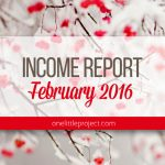 Traffic and Income Report: February 2016