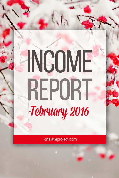 One Little Project - Income Report for February 2016