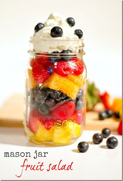 33 Healthy Mason Jar Salads - Mason Jar Fruit Salad