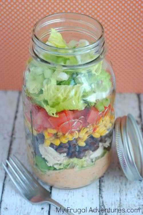 33 Healthy Mason Jar Salads - Mason Jar Southwest Salad