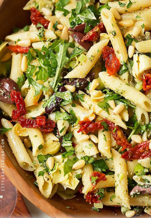 40 Best Pasta Salad Recipes - Mediterranean Pasta Salad