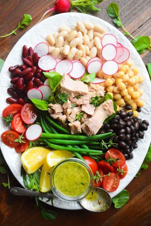 25 Meal Sized Loaded Salads - Mediterranean Tuna Salad with Tarragon Vinaigrette