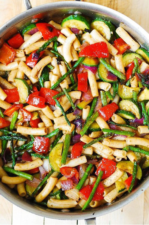 40 Best Pasta Salad Recipes - Pasta Salad with Roasted Vegetables