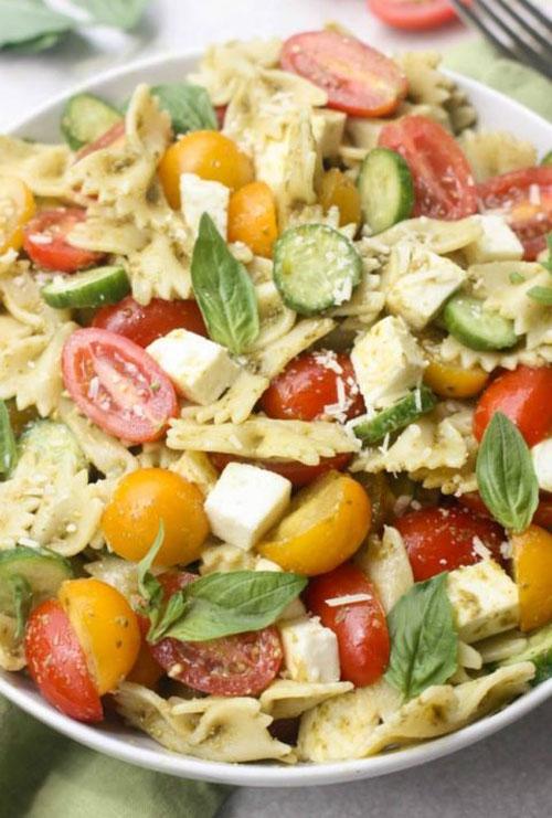 40 Best Pasta Salad Recipes - Pesto Pasta Salad