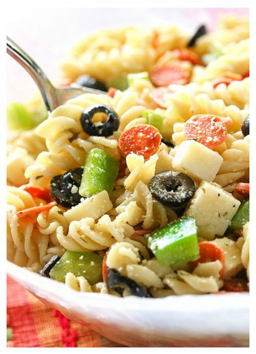 40 Best Pasta Salad Recipes - Pizza Pasta Salad