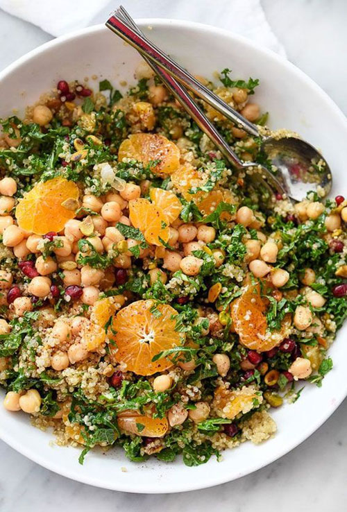 25 Meal Sized Loaded Salads - Quinoa and Kale Protein Salad