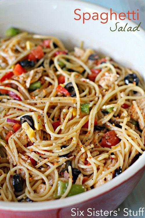 40 Best Pasta Salad Recipes - Spaghetti Salad