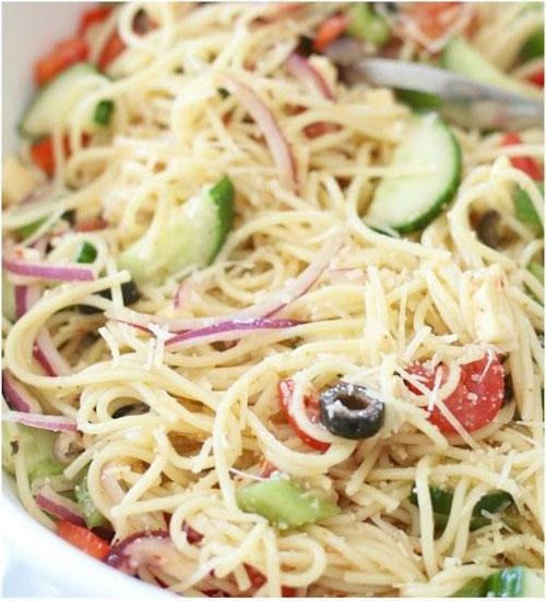 25 Meal Sized Loaded Salads - Spaghetti Salad