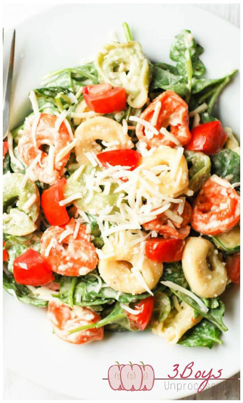 40 Best Pasta Salad Recipes - Spinach and Tortellini Salad