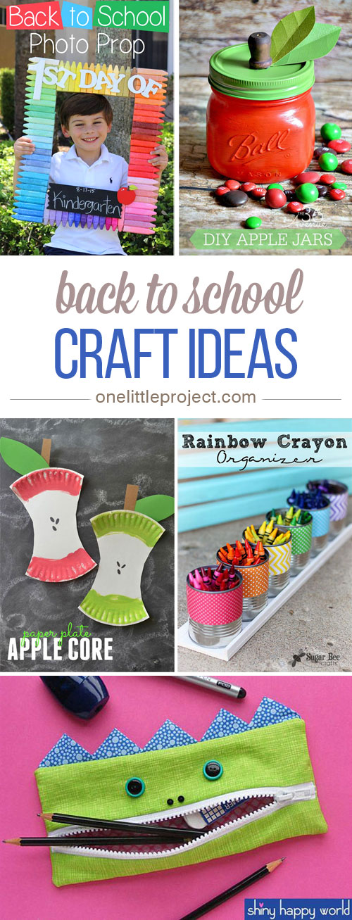 These back to school craft ideas are SO MUCH FUN! Ahhh! I just can't choose! There are so many fun ideas to get the kids excited about going back!