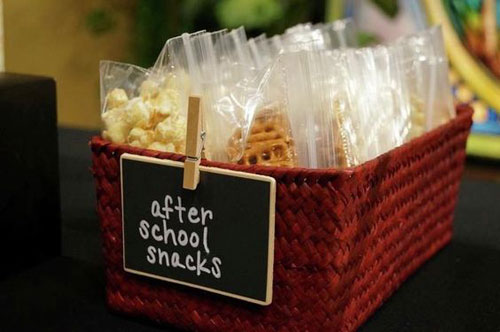 24 Back to School Organization Ideas - After School Snack Basket