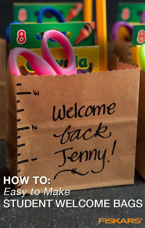 25 Back to School Craft Ideas - Back To School Welcome Kit