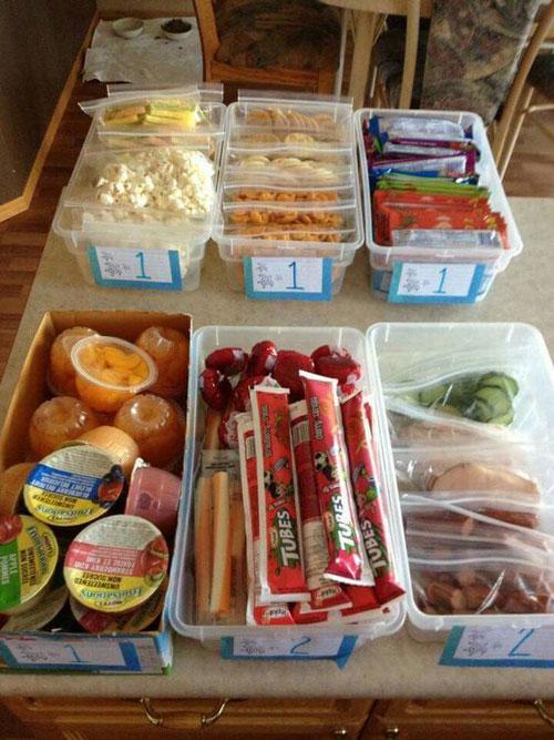 24 Back to School Organization Ideas - Back to School Lunch Organizer