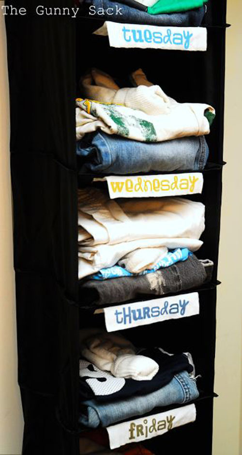 24 Back to School Organization Ideas - Back to School Outfit Organizer
