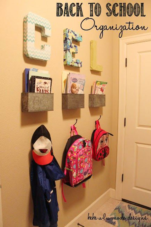 24 Back To School Organization Ideas: ideas for hanging backpacks