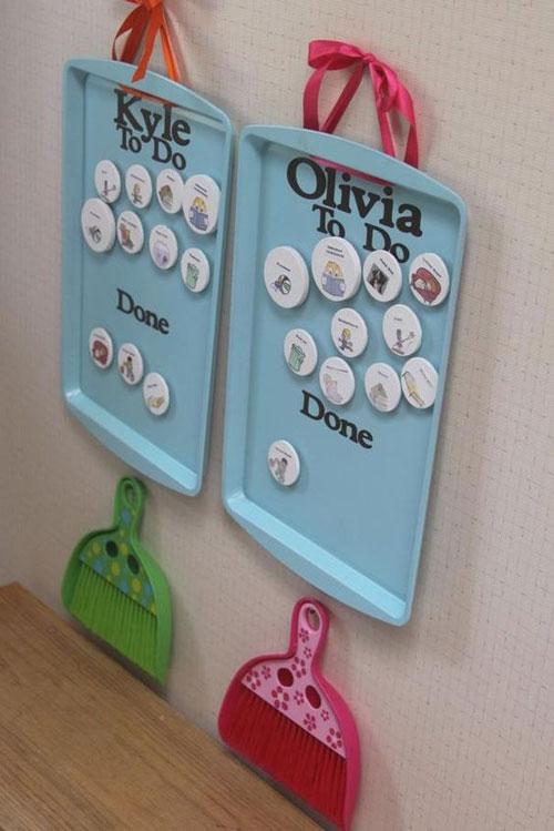 24 Back to School Organization Ideas - DIY Chore Chart