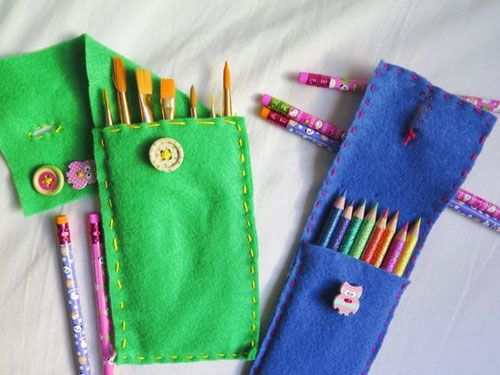 25 Back to School Craft Ideas - DIY Felt Pencil Case