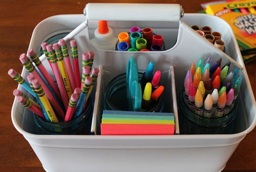 24 Back to School Organization Ideas - DIY Homework Caddy