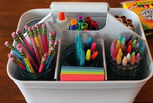 24 Back to School Organization Ideas - DIY Homework Caddy