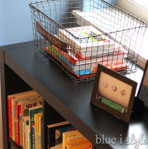 24 Back to School Organization Ideas - DIY Library Book Basket