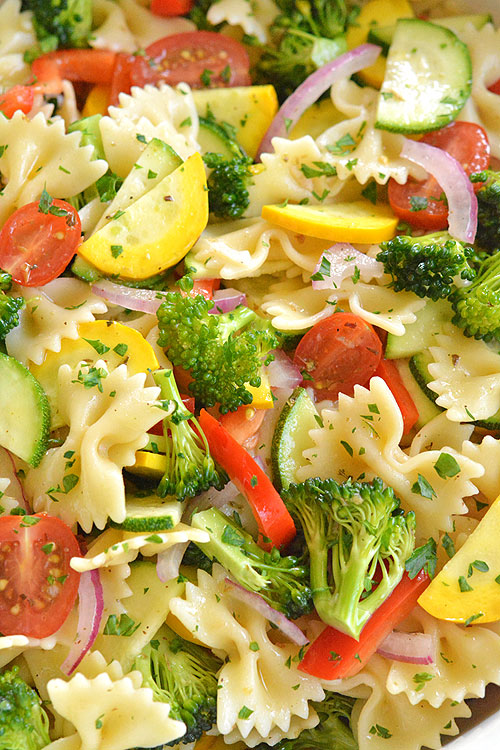 http://onelittleproject.com/garden-vegetable-pasta-salad/