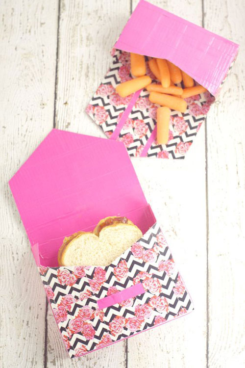 25 Back to School Craft Ideas - Duck Tape Lunch Bags