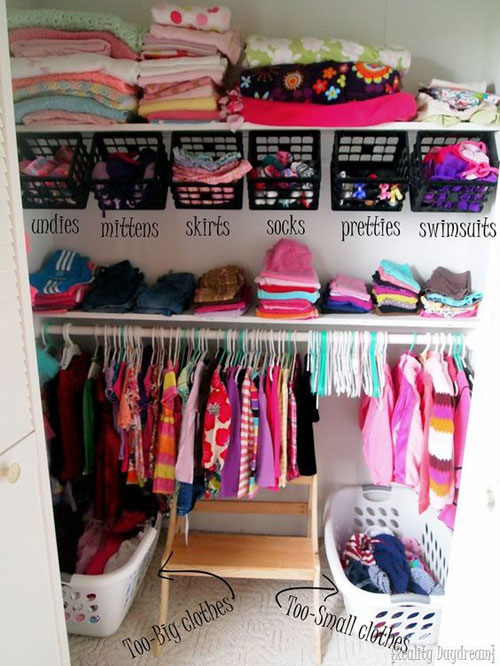 24 Back to School Organization Ideas - Kids and Nursery Closet Organization Ideas