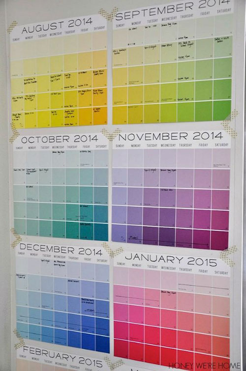 24 Back to School Organization Ideas - Organized Wall Calendar