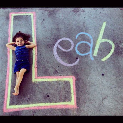 22 Totally Awesome Sidewalk Chalk Ideas - Sidewalk Name Chalk Art