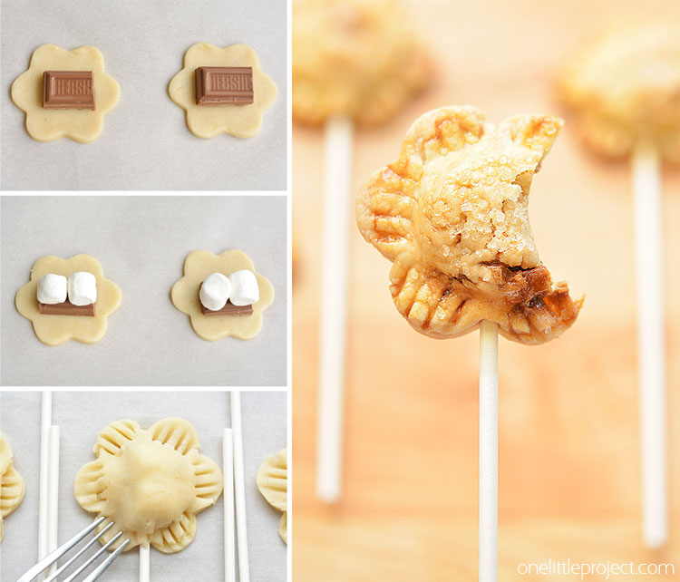 These flower shaped s'more pie pops are an adorable summer dessert and they taste sooooo good! What a fun and delicious little treat to make with the kids! Yum!