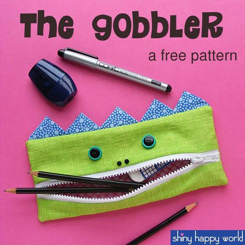 25 Back to School Craft Ideas - The Gobbler Pencil Pouch