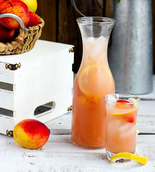 50+ Best Peach Recipes - Fresh Peach Lemonade