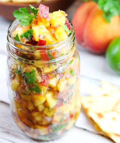 50+ Best Peach Recipes - Fresh Peach Salsa