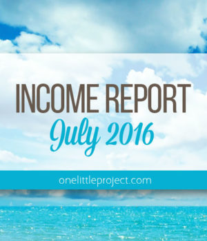 Traffic and Income Report: July 2016